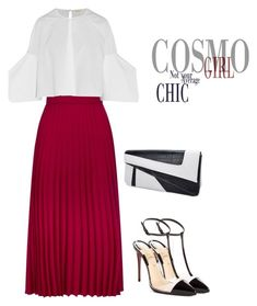 """Untitled #3103"" by carlene-lindsay on Polyvore featuring RED Valentino, Delpozo and Christian Louboutin"