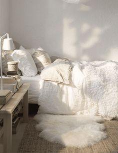 alfombra cabrito de corderito blanca cuero de oveja natural