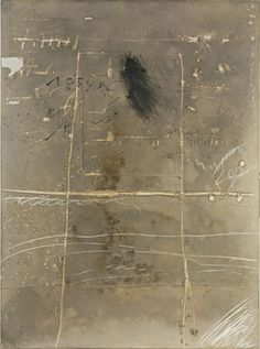 "Antoni Tapies    ""Written on the Wall"""