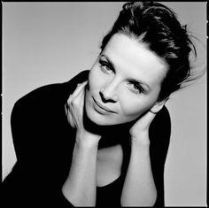 Juliette Binoche - La beauté en noir et blanc