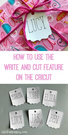 How to use the Write and Cut Feature on the Cricut Explore to make quick and easy tags with names or sizes perfectly written on them. #ad
