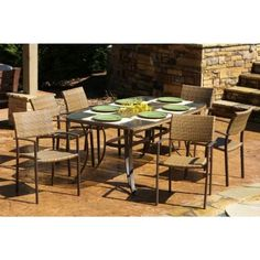 Check this out! Maracay 7 Piece Outdoor Dining Set TO-MARD-007 | CozyDays Buy at http://www.cozydays.com/outdoor-furniture/outdoor-patio-dining-sets/maracay-7-piece-outdoor-dining-set-1311.html
