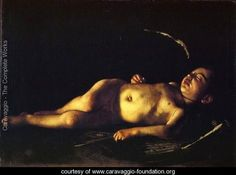 Caravaggio Sleeping Cupid painting for sale, this painting is available as handmade reproduction. Shop for Caravaggio Sleeping Cupid painting and frame at a discount of off. Baroque Painting, Baroque Art, Italian Painters, Italian Artist, Chiaroscuro, Palacio Pitti, David Et Goliath, Michelangelo Caravaggio, Diego Velazquez