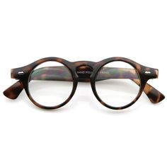9525fefd4c0 Vintage inspired round glasses that feature distinct large horned temples.  Made with an acetate frame