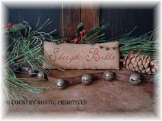 Primitive Sleigh Bells Cupboard Keep Cross Stitch by countryrustic, $7.00