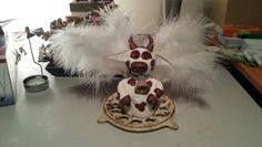 Handmade Sculpey clay Cow christmas tree topper