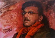beautiful portrait by Iraqı Painter Abbas Lateef