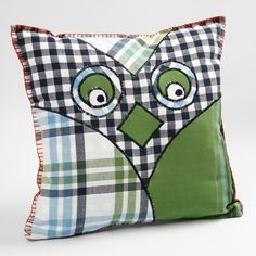 A Cuddly Animal Cushion made from Tea Towels