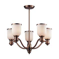 Cornerstone Brooksdale 5 Light Chandelier In Antique Copper 2705CH/19