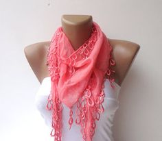 women scarf cotton with lace scarves pink scarf by scarvesCHIC