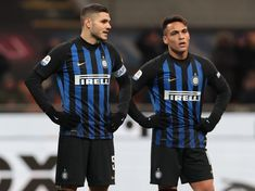 Mauro Emanuel Icardi and Lautaro Martinez of FC Internazionale look. Mauro Icardi, Motorcycle Jacket, That Look, Soccer, Football, Sports, Jackets, Milan Italy, Torino