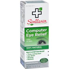 Similasan Computer Eye Relief - 0.33 fl oz - Similasan Computer Eye Relief Description: Homeopathic Formula. Relieves Tired, Strained Eyes. Gentle enough for children, strong enough for adults. Similasans unique Active Response Formula quickly stimulates the eye's natural ability to relieve eye strain due to intense computer work, TV, reading, writing, or driving at night. Sting free, no worries about chemical vasoconstrictors, rebound or contradictions. Similasans high Swiss quality…