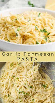 Easy Pasta Recipes, Easy Pasta Meals, Chicken Pasta Recipes, Pasta Recipes With Spaghetti Noodles, Recipes With Noodles Easy, Pasta With Milk, Pasta Dishes With Chicken, Herb Pasta Recipe, Leftover Spaghetti Noodles