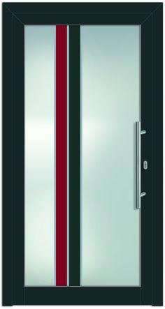 Modell Maia 1 Aluminium-Eingangstüre in grau - Außenansicht! Sternstunden-Türen erhätlich bei Fenster-Schmidinger aus Gramastetten in Oberösterreich! #doors #türen #alutüren #sternstunden