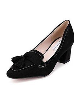 X&D Damenschuhe - High Heels - Outddor / Lässig - Pelz - Blockabsatz - Absätze - Schwarz / Grau - http://on-line-kaufen.de/tba/x-d-damenschuhe-high-heels-outddor-laessig-pelz