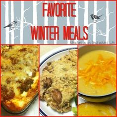 Favorite Winter Meals - Structure in an Unstructured Life