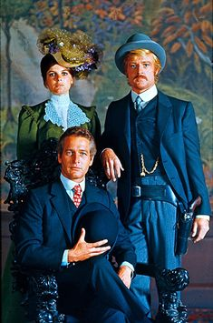 "Paul Newman and Robert Redford withKatharine Ross in ""Butch Cassidy and the Sundance Kid""  (1969)"