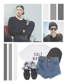 """Oh Sehun // Tag"" by lilian95 ❤ liked on Polyvore featuring Globe, New Balance, kpop, EXO, exok, Sehun and ohsehun"