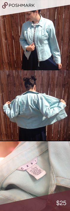 Retro vintage Jean jacket Comfortable and cool light blue jean jacket. Model is a size 14 Vintage Jackets & Coats Jean Jackets