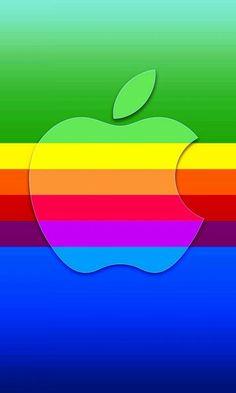 Apple Logo in Rainbow color S4 Wallpaper, Apple Logo Wallpaper Iphone, Iphone 7 Wallpapers, Cellphone Wallpaper, Wallpaper Display, Iphone Backgrounds, Wallpaper Ideas, Galaxy Wallpaper, Rainbow Colors