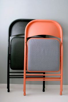 How to Reupholster Almost Anything! Love this folding chair idea! So easy and cute