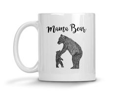 Mama Bear Wild Youth Ceramic Coffee Mug  #sassy #funny #tops #quotes #tees #womens #sayings #clothes
