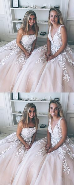On Sale Comely Lace Prom Dresses Princess A-line Tulle Long Prom Dress With White Lace Appliques Prom Dresses, Lace White Prom Dresses, A-Line Prom Dresses, Prom Dresses With Appliques, Prom Dresses White Prom Dresses Long Princess Prom Dresses, Junior Prom Dresses, Prom Dresses For Teens, V Neck Prom Dresses, Pink Prom Dresses, Tulle Prom Dress, Prom Dresses Online, Cheap Prom Dresses, Bridesmaid Dresses