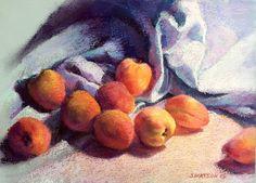 Michelle's PeachesStill Life in by ARTEQUALSJOY on Etsy