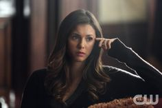 "The Vampire Diaries -- ""I Alone"" -- Image Number: VD609a_0262.jpg -- Pictured: Nina Dobrev as Elena -- Photo: Annette Brown/The CW -- © 2014 The CW Network, LLC. All rights reserved."