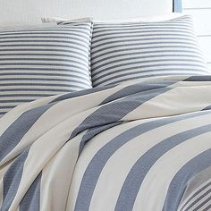 Shop for Nautica Fairwater Duvet Cover Set. Get free delivery On EVERYTHING* Overstock - Your Online Fashion Bedding Store! Nautical Bedding Sets, Nautical Duvet Covers, Coastal Bedding, Beach Comforter, Console, Blue Duvet, Make Your Bed, Comforter Sets, Duvet Cover Sets