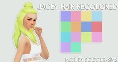pxelpink: booster-sims' jacey hair recolored ... / Sims4 Custom Content Finds