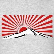 Mt. Fuji with rising sun japan T-Shirts
