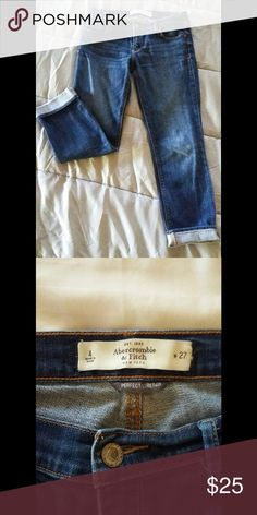Abercrombie and Fitch Capri jeans Pre-owned ..great condition Jeans Ankle & Cropped