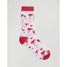 SSDD Halloween Socks (21 BRL) ❤ liked on Polyvore featuring men's fashion, men's clothing, men's socks, red and mens red socks