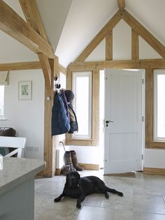 Hampshire Holiday Home - Border Oak - oak framed houses, oak framed garages and structures. Border Oak, Paper Mulberry, Oak Framed Buildings, Oak Frame House, English House, House Extensions, Country Living, Country Kitchen, Home And Living