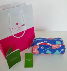 "Kate Spade New York NWT ""Cedar Street Berrie"" Multi Floral Cosmetic Case Bag $68 #katespade #CosmeticBags"