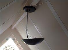 Herda Plafond en/of wandlamp. Zwart / chroom. Design.   Nieuw binnengekomen   Fennies Vintage