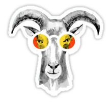 Goat Hipster Sticker