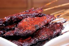 Smoked Pork Butt on a Stick - Smoking Meat Newsletter Smoked Pork Butt on a Stick – Smoking Meat Newsletter Smoked Meat Recipes, Grilling Recipes, Pork Recipes, Sausage Recipes, Traeger Recipes, Game Recipes, Recipies, Smoked Beef Brisket, Smoked Pork