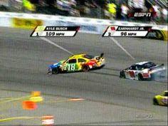 2008 Nascar Sprint Cup Richmond Kyle Busch Wrecks!! I love karma. <3