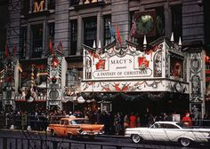 Vintage Holiday: Macy's department store, New York City, Christmas