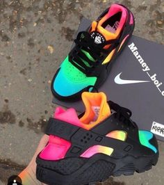 Wheretoget - Rainbow, colorful Nike sneakers