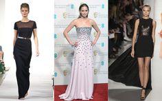 Oscar style pics: Jennifer Lawrence in Oscar de la Renta spring/summer 2013 (left) and Michael Kors