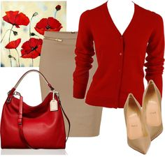 red poppies outfit