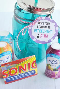 Refreshing Birthday Gift Idea - Crazy Little Projects Birthday Gifts For Best Friend, Best Friend Gifts, Gifts For Dad, Gifts For Friends, Birthday Fun, Birthday Stuff, Birthday Crafts, Birthday Ideas, Birthday Parties
