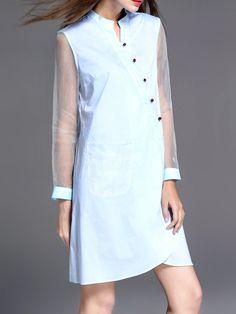 #AdoreWe #StyleWe Dresses - KK2 Simple Paneled Long Sleeve Midi Dress - AdoreWe.net
