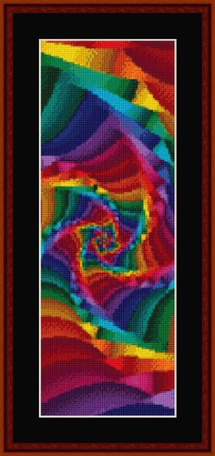 Check back every month for a different free fractal bookmark pattern!