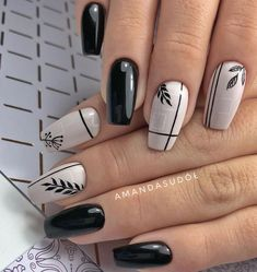 53 Outstanding Short Coffin Nails Design Ideas - Page 15 of 53 - TipSilo Classy Nails, Stylish Nails, Trendy Nails, Purple Nail Art, Pretty Nail Art, Spring Nail Art, Spring Nails, Cute Acrylic Nails, Cute Nails
