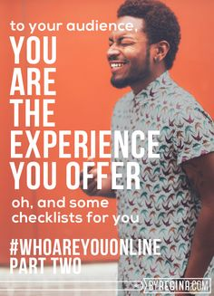 Two exercises to help you nail down the experience you want to create for your #blog readers and clients. -- You Are The Experience You Offer (Who Are You Online: Part Two)