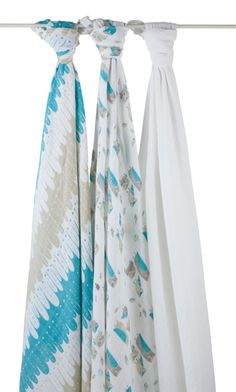 Aden & Anais | Organic Cotton Swaddles – Wise Guys (3-pack)